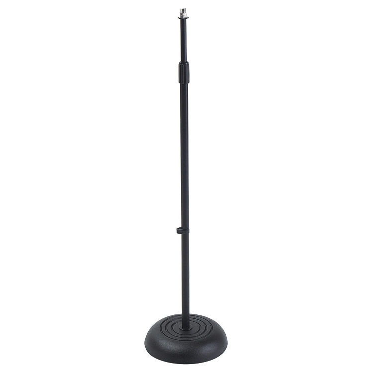 Proline Round Base Microphone Stand - Black