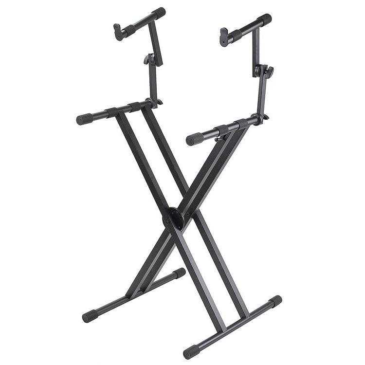 2-Tier Double X-Braced Keyboard Stand - PL402