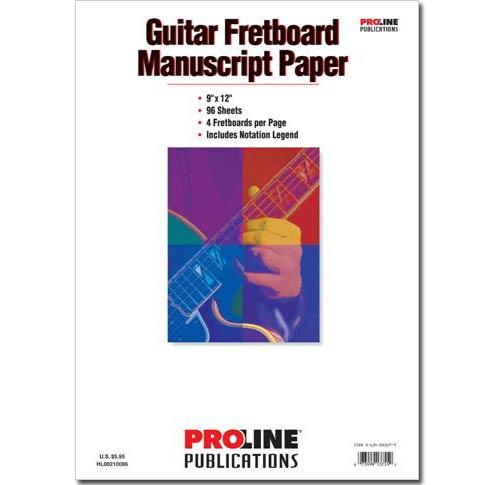 Guitar Fretboard Manuscript Paper - HLP210086