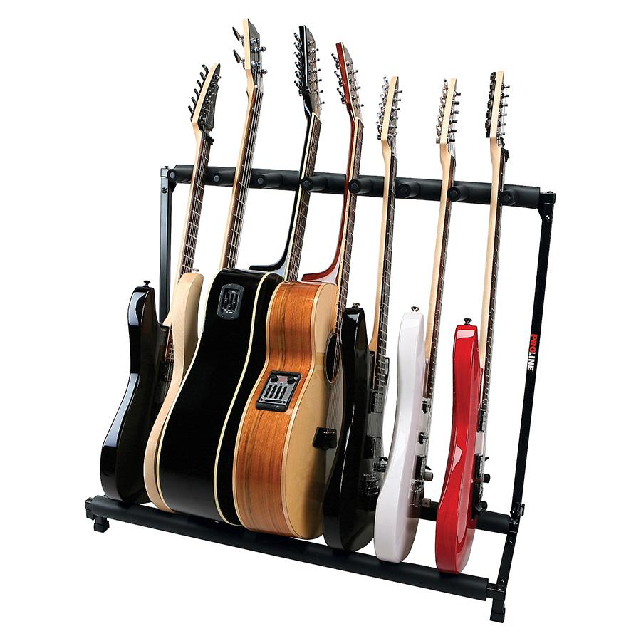 plms7 7 guitar folding stand black proline. Black Bedroom Furniture Sets. Home Design Ideas