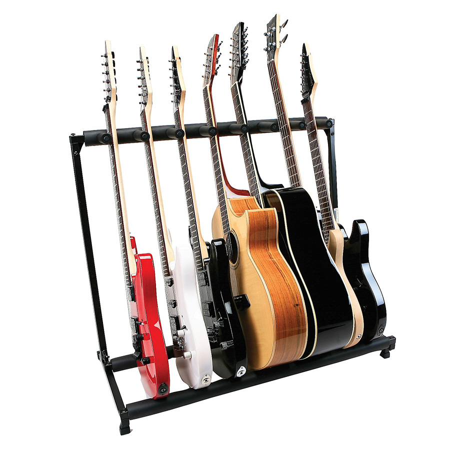 Plms7 7 Guitar Folding Stand Black Proline