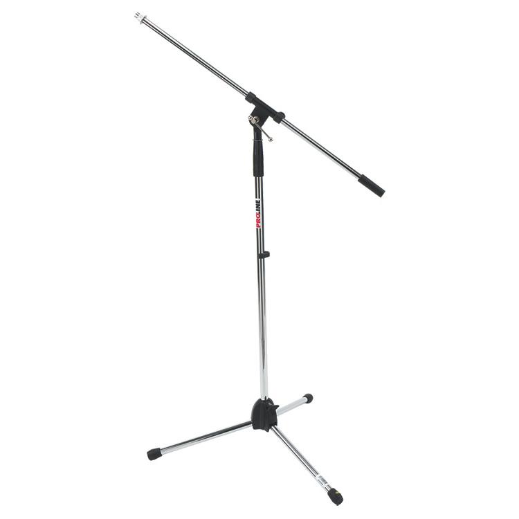 Tripod Boom Microphone Stand - Chrome