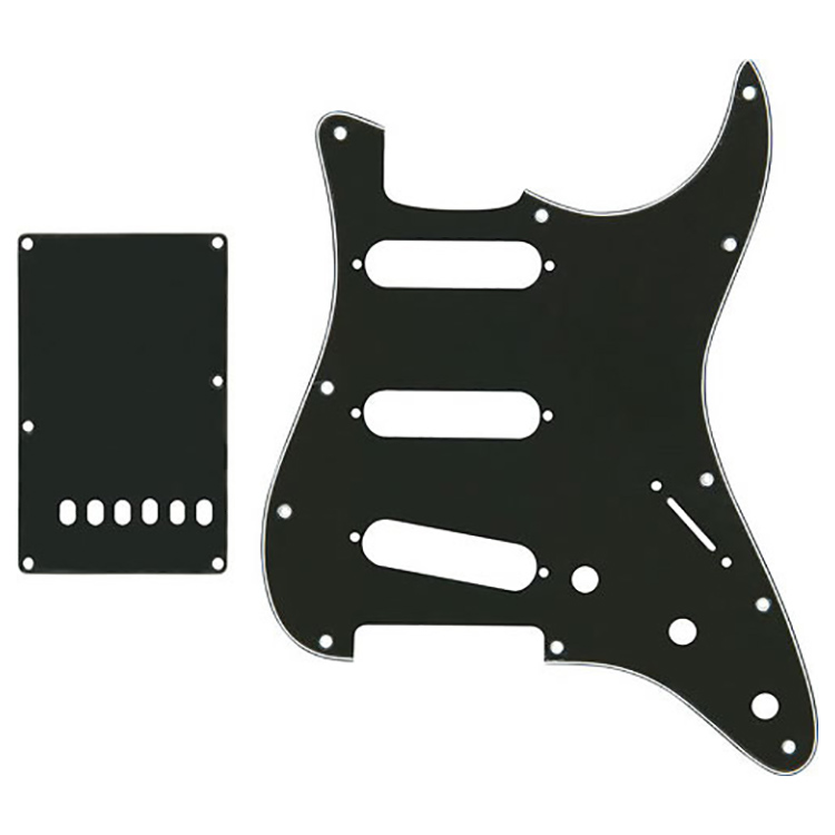 Proline US Strat Pick Guard SSS w/Back Plate B/W/B - PFS5301US