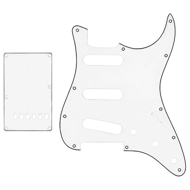 Proline US Strat Pick Guard SSS w/Back Plate W/B/W - PFS5302US
