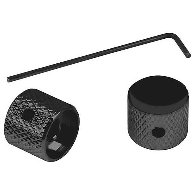 Proline US Telecaster Dome Knob w/Wrench (Black - 2 Pack) - PL006B