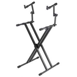 Proline 2-Tier Double X-Brace Keyboard Stand PL402