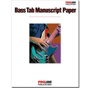 Proline Bass Tab Manuscript Paper HLP210089