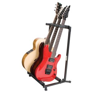 3-Guitar Folding Stand Black - PLMS3