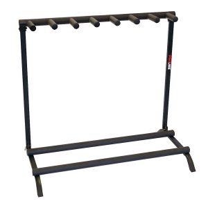 7 Guitar Folding Stand Black - PLMS7