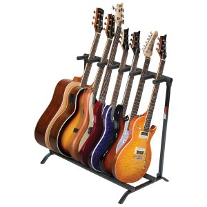 7-Guitar Folding Stand Black - PLMS7