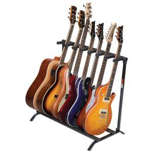 7-Guitar Folding Stand Black - PLMS7
