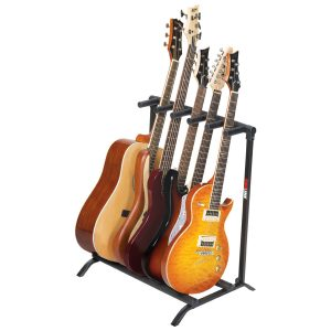 5-Guitar Folding Stand Black - PLMS5